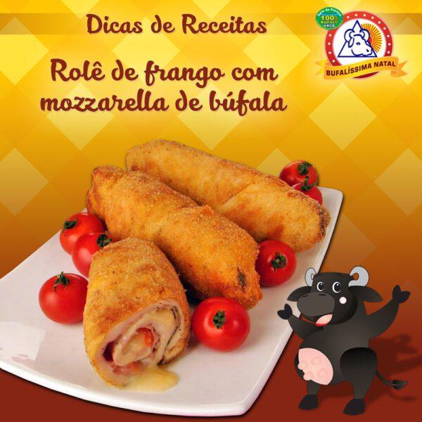 Rolê de Frango com Mozzarella de Búfala