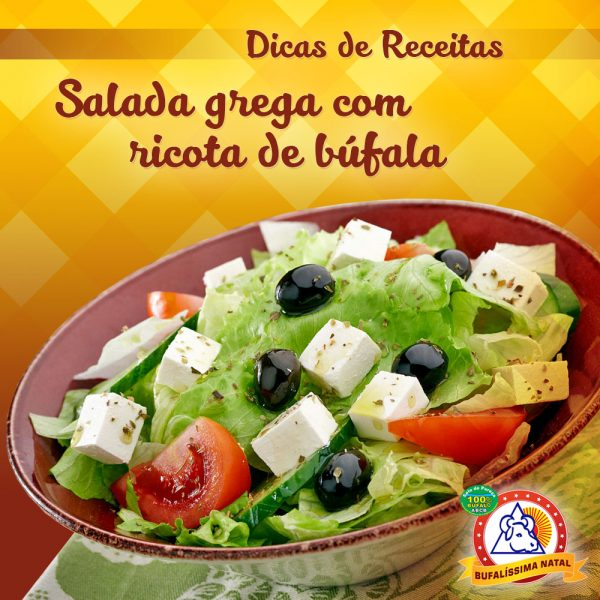 Salada Grega com Ricota de Búfala