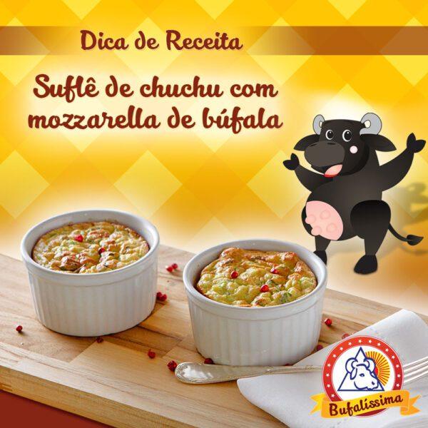 Suflê de Chuchu com Mozzarella de Búfala